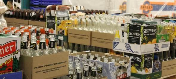 Ah! So many empty beer bottles...brings tears to my eyes.