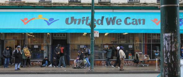 United We Can is located on a somewhat notorious block of Hastings Street.