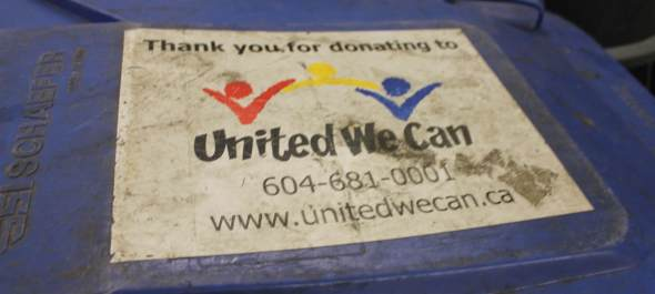 United We Can Tote lid