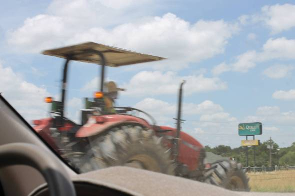 This was one of the many tractors we saw driving in the left lane on Interstate 10 through Texas.