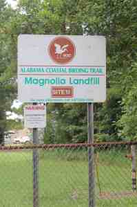 magnolia landfill sign