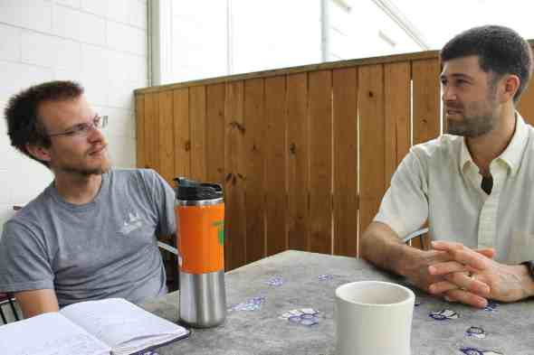 Jonathan tells us how it is; Phil craves his coffee.