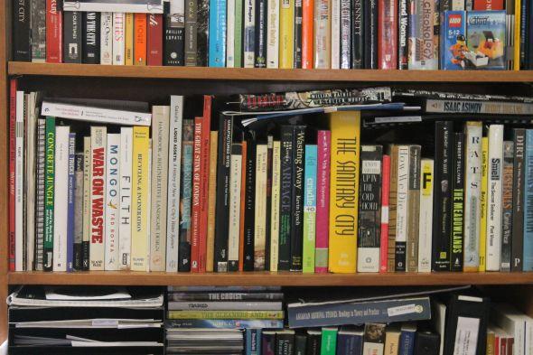 I often judge people by their bookshelves. Robin's bookshelf caught my eye.