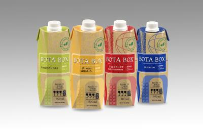 This wine package, the Bota Box, claims to be 100% recyclable. Image source: http://www.greenerpackage.com/source_reduction/new_500-ml_wine_carton_aimed_active_modern_lifestyle
