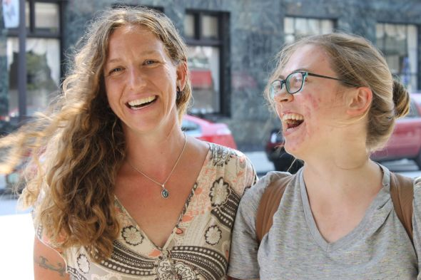 Together, Theresa Snow, the Founding Director of Salvation Farms, and Marcella Houghton, an AmeriCorps VISTA member, keep Salvation Farms going.